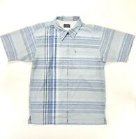 Patagonia Mens Full Zip Short Sleeve Shirt Medium Polyester Blend Rhythm Blue