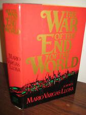 1st Edition WAR END OF WORLD Mario Vargas Llosa NOBEL PRIZE First Printing NOVEL