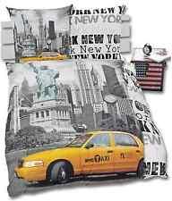 Bettwäsche Wendebettwäsche New York Fans Foto Taxi Freiheitsstaue 135x200 NEU