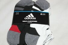 Adidas Men's No-Show Multi-Color Athletic Sport Socks 6-Pack NWT Size 6-12