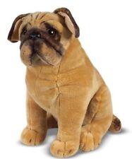 Pug Dog Soft Plush Cuddly Toy Dog Real Life Size 32 cm New Tagged