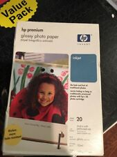 HP Premium Glossy Photo Paper 20 Pieces NEW