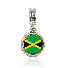 Flag of Jamaica Euro European Italian Style Bracelet Bead Charm