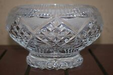 VINTAGE CUT GLASS LEAD CRYSTAL FOOTED BOWL.