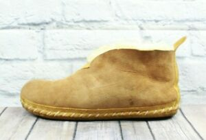 LL BEAN Men's Tan Suede Wicked Good Ankle Boot Slippers Size 12 M