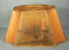Sailboat lampshade ebay vintage early 20th century parchment paper lamp shade with sailboats aloadofball Images