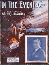 WALTER DONALDSON jazz song IN THE EVENING with Artie Mehlinger PRETTY COVER 1924