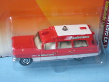 MATCHBOX 1963 CADILLAC Ambulance Hôpital Red Medic USA Rétro Jouet Voiture Modèle 75 mm