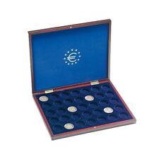 ESTUCHE madera. Para monedas de 2 € en CAPSULAS. Gratis las 35 Cápsulas.