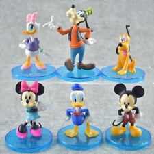 6 PCS Disney Mickey Minnie Mouse Donald Duck Daisy Goofy Figure Doll Cake Topper