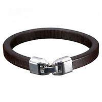 Fashion Men Women Leather Wrap Wristband Cuff Clasp Bracelet Bangle