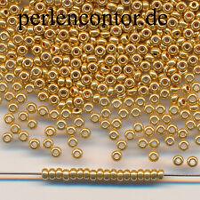 Glasperlen  23 g  gold metallic  2,3 mm  Preciosa Rocailles Edelperlen (AZ1162)
