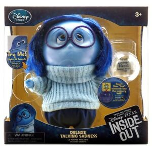 Disney Store Sadness Deluxe Talking Doll - Inside Out - 7 1/2'' H