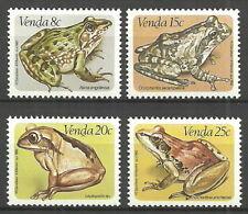 Venda - Frösche Satz postfrisch 1982 Mi. 66-69