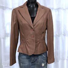 Medium - TAHARI Womans Soft Buttery Leather Blazer Jacket
