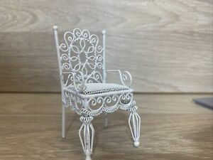Vintage Dolls House Metal Chair