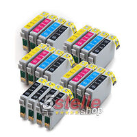 KIT 20 CARTUCCE PER STAMPANTE EPSON STYLUS SX410 SX 410 NERO + COLORE