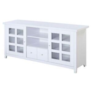 "Convenience Concepts Newport Park Lane 60"" TV Stand, White - 131127W"