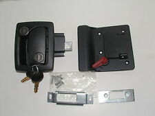 BLACK CAMPER TRAVEL TRAILER UNIVERSAL RV ENTRY DOOR LOCK W / DEADBOLT  NEW !!