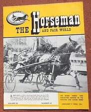 1-7-59 The Horesman and Fair World Magazine Harness Racing Sulky Horse Trotter