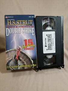 DOUBLE STRIKE VHS TAPE H.S. STRUT CUTT'N & STRUTT'N III 15 TURKEY HUNTS