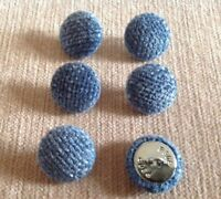 30L//17mm Nail Back Charcoal Chenille Velvet Fabric Covered Upholstery Buttons