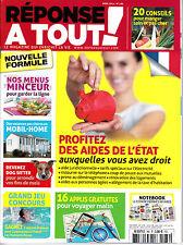 REPONSE A TOUT. N° 286. PROFITEZ DES AIDES DE L'ETAT / VACANCES EN MOBIL-HOME