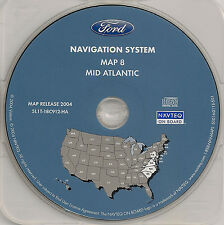 03 04 05 06 Ford Expedition Escape Navigation Map #8 Cover Mid Atlantic Region