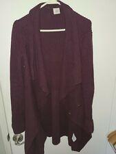 Cabi~ Women's Mulberry Ribbed Long Cardigan Sweater Medium Angora Blend