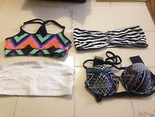 LOT OF 4 BATHING TOPS BANDEAU TOPS GIRLS CLOTHING JUNIOR SIZES