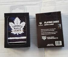 Toronto Maple Leafs LOGO NHL Hockey Plastic Coated Playing Cards