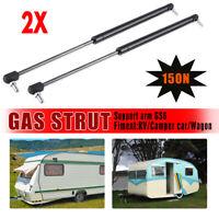 2X Campervan Caravan Gas Locker Spring Strut 150N Universal Support Arm 520mm