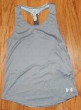 Under Armour Heat Gear Girls Gray Tank Top Loose Fit YSM Style 1291698 NWT