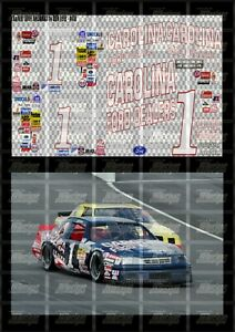 NASCAR 1/64 DECALS JG04 - JEFF GORDON 1991 CUP #1 CAROLINA FORD (RD WHT, & BLUE)
