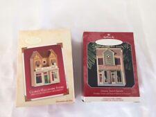 Hallmark Keepsake Ornament Lot~2002 Clara's Store & 1998 Grocery Store