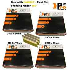 50mm, 65mm, 75mm, 90mm (total 8000 Framing Nails ) for DEWALT Nailer