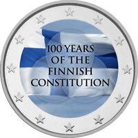 2 Euro Gedenkmünze mit Finnland 2019 Verfassung coloriert m. Farbe / Farbmünze 2