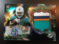 Jay Ajayi 2015 Topps Platinum Black Refractor RPA 4 Color Patch Auto RC #D /125