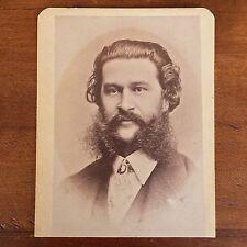 Carte de Visite Portrait Composer Johann Strauss, Boston Festival Warren's, 1872