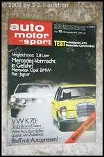AMS Auto Motor Sport 18/70 Autobianchi A 111 Steinmetz Commodore