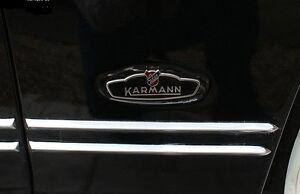 VW KARMANN GHIA SIDE BODY MOLDING SET 1956-1959 ORIGINAL SHARP-EDGE STYLE
