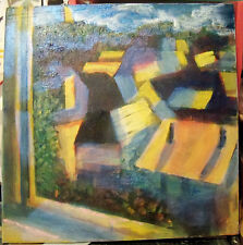 """""""VIEW FROM WINDOW"""" by Ruth Freeman ACRYLIC ON STRETCHED CANVAS 24 1/2"""" X 241/2"""""""