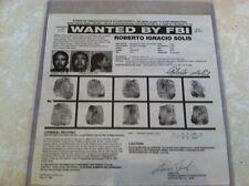 ROBERTO SOLIS aka PANCHO AGILA POET/MURDERER FBI WANTED POSTER  *MAKE OFFER*