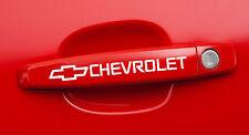 2 CHEVROLET, CAMARO, Pickup, Door Handle Decals stickers emblem logos White