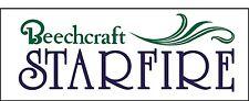 A146 Beechcraft Starfire Airplane banner hangar garage decor Aircraft signs