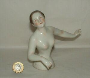 Antique LARGE Half Doll Rare German Porcelain Ballerina Doll Volkstedt Rudolstad