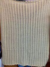 "Vintage Handmade Solid Yellow Afghan Throw Crochet Blanket Crocheted 66"" X 42"""