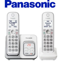 Panasonic KX-TGD532W Cordless Phone With Call Block Answering Machine 3 Handsets