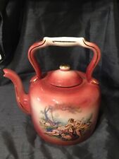 Huge Pottery Decorative Tea Pot Kettle DECORATION Only Pink Staffordshire
