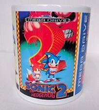 Sonic The Hedgehog 1 2 3-Taza de Café Taza-Caja Art-SEGA-MEGA DRIVE-Regalo